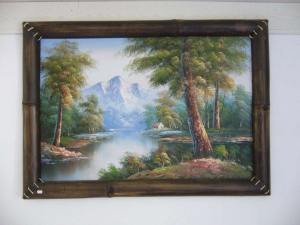 bamboo picture frame, bamboo painting frame