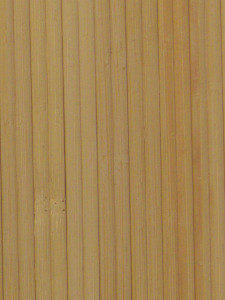 Microribbed bamboo wallpaper glued on textile