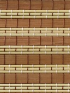 Material for manufacture of made to measure bamboo roller blinds and bespoke bamboo shading