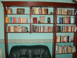 Bookshelf with molding and crown moulding